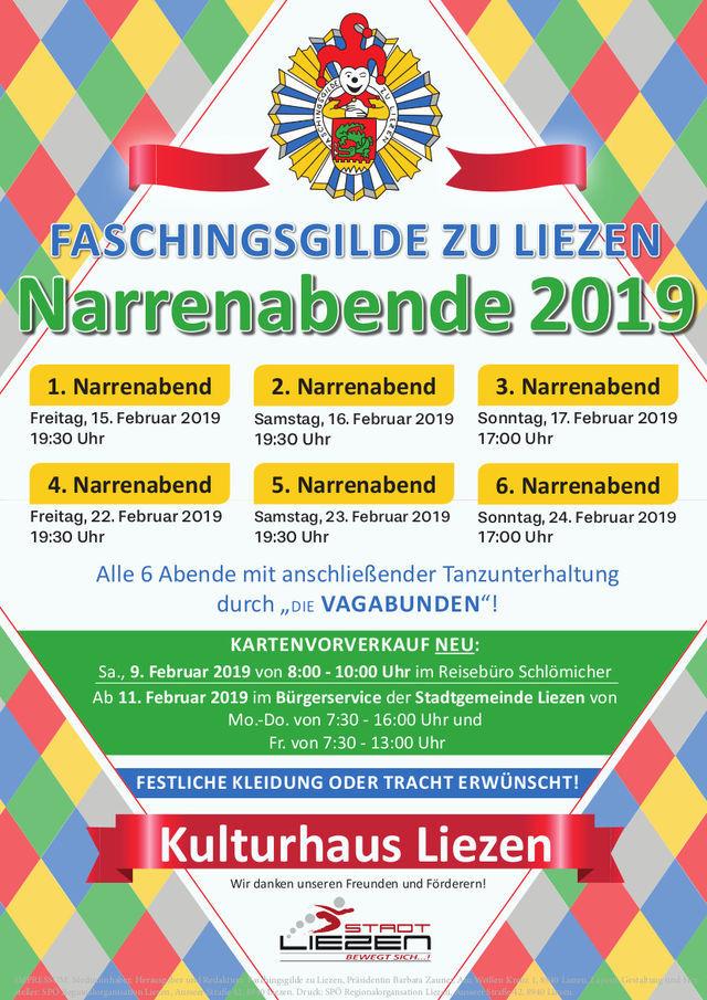 Plakat Narrenabend 2019